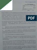 Carta de Bibliotecarios de Piura y Tumbes al Ministro Jorge Nieto