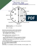 The CLOCK Zegar Telling the Time Podawanie Godzin i Cwiczenia
