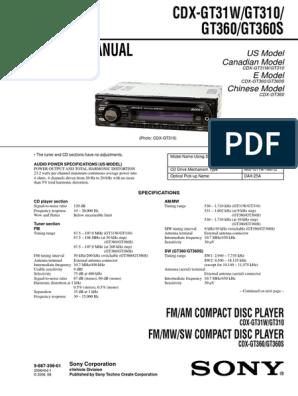 Sony Cdx Gt31w Wiring Diagram For. . Wiring Diagram Sony Cdx Gt M Wiring Diagram Marine on