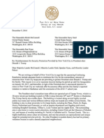 De Blasio's Letter to Congress Requesting Reimbursement for Trump Security Protection 12-5-16