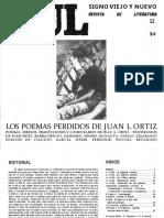 Revista Xul - Los poemas perdidos de Juanele October 1997. Número Completo