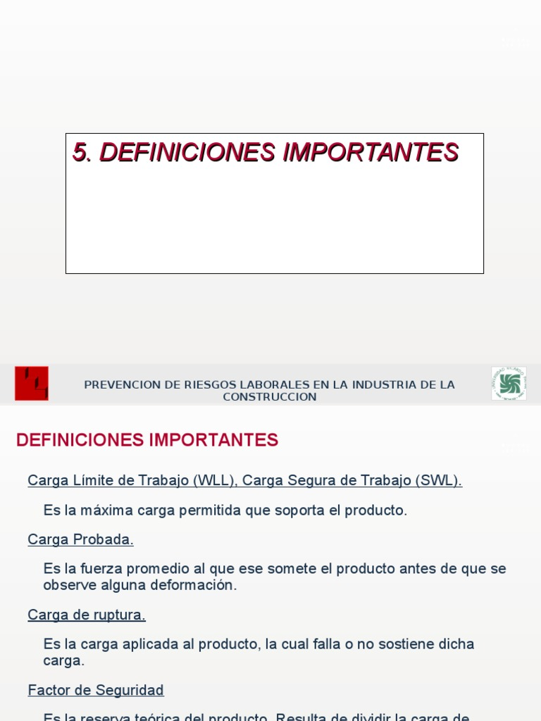 5d. Elevacion Mecanica de Cargas - Ing. Jose Silva
