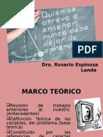 El Marco Teorico.