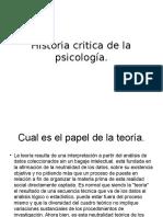 Historia Critica de La Psicología