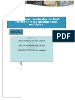 2.2 Descripción Analítica de Las Teorías Cerebrales de Ned Hermann y Las Inteligencias Múltiples Autoguardado