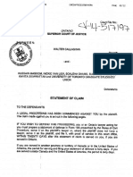 Callaghan - Statement of Claim