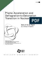 Deflagration to Detonation Hydrogen-steam mixtures