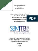 Knowledge Management in NuSkin Indonesia