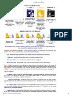 Classes de Incêndio, Principio de Incêndio, Fases, Agentes Extintores