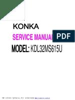 Service Manual Konka Kdl32ms615u
