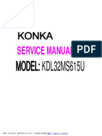 Service Manual Konka Kdl32ms615u
