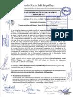 Acta de Presentacion y Evaluacion de Propuestas Wawa Wasi