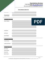 School Database Update Form
