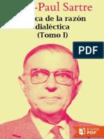 Critica de La Razon Dialectica - Jean-Paul Sartre