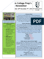 Newsletter - Weeks 16 & 17