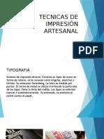 Tecnicas de Impresión Artesanal