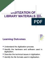 Digitization of Library Materials (Chap 6)