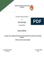 Froilan Award