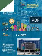 Ciudades y Entornos Saludables OPS - Paulo Pizza
