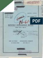 U-Boat Monthly Report - Jun 1943