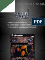 Christian Stephen - Conciertos organizados
