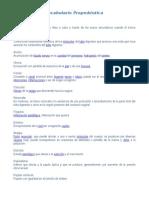 Vocabulario Propedeutica