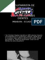 El Guitarrista de Calvario que toca con los dientes - Imbabura - Ecuador