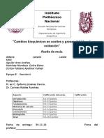 Cambios Bioquímicos en Aceites y Grasas Debido a La Oxidación