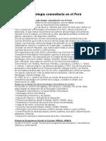 La Psicologia Comunitaria en El Peru