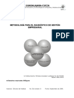 Metodologia Para El Diagnostico de Gestioìn Empresarial