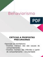 Behaviorismo Metodológico e Radical