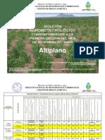 Boletin Agrometeorológico Correspondiente a La Primera Decena del mes de Diciembre Nro. 1068-ALTIPLANO