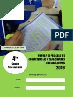 Evaluación de proceso COM - 4°