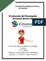 Evaluacion Del Desempeño Personal en Cinemex