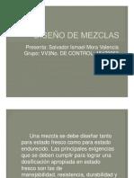 DISEÑO de MEZCLAS. Mora Valencia Salvador. Equipo 6B