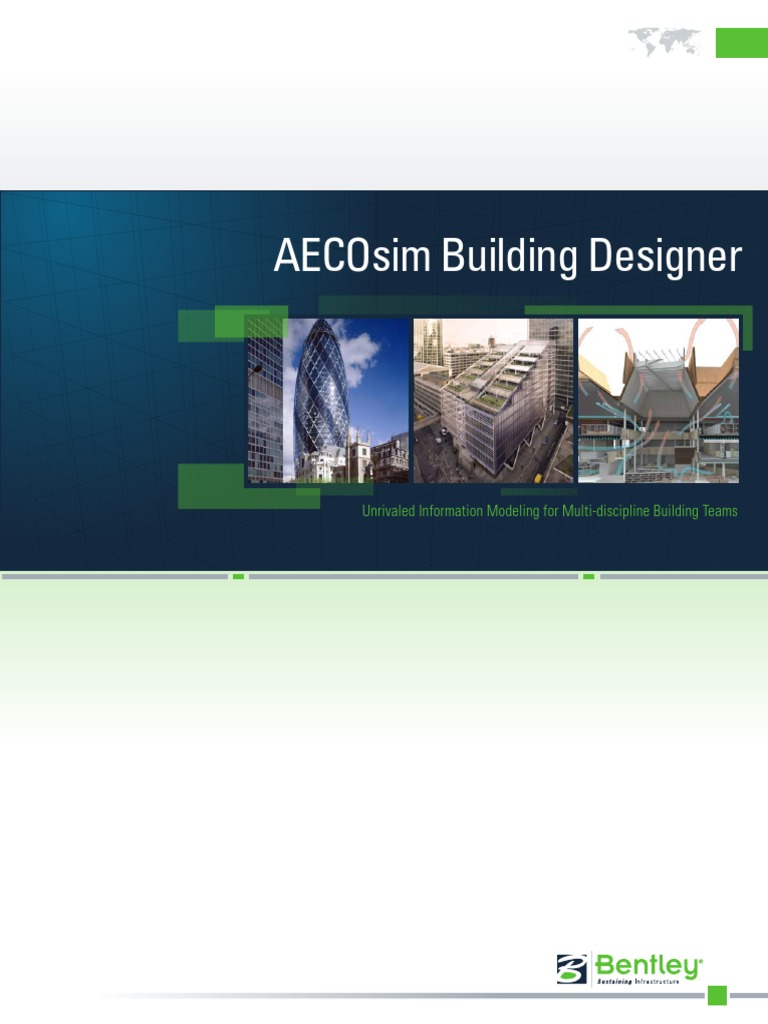 Latest AECOsim Product Brochure | Simulation | 3 D Modeling