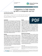 SN048Haematological Adaptations to High Intensity Interval Training (HIIT) in Temperate and Hot Environments