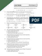 Geometric Series Worksheet A