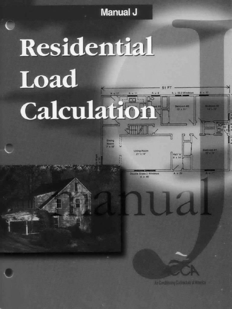 Residential Load Calculation Manual J Pdf U2013 Residential Manual Guide