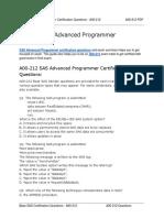 A00-212 SAS Certified Advanced Programmer for SAS 9