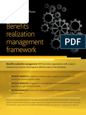 Benefits Realization Management Framework Performance Indicator Governance