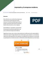 Las Etapas Del Empresario y La Empresa Moderna • GestioPolis