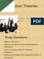 OB Motivation Theories