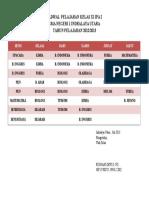 Jadwal Pelajaran Kelas Xi Ipa 2