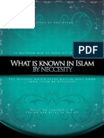 [SALAFIMEDIA]-What is Known in Islam by Necessity - Abu Bilal Halabi