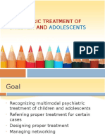 Psychiatric Treatment of Children and Adolescents