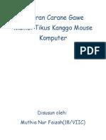 Laporan Carane Gawe Klambi Tikus Kanggo Mouse Komputer