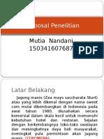 Proposal Penelitian Jagung