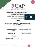 Monografia de La Membrana Plasmatica