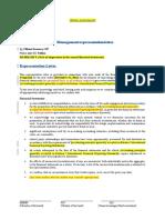 Example Representation Letter Estgaap